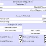 Benachrichtigung E-Mail/SMS